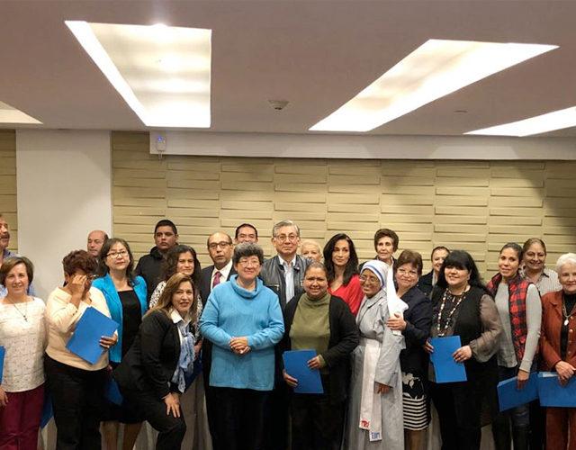 Clausura de cursos de la Escuela de la Fe, sede Pachuca