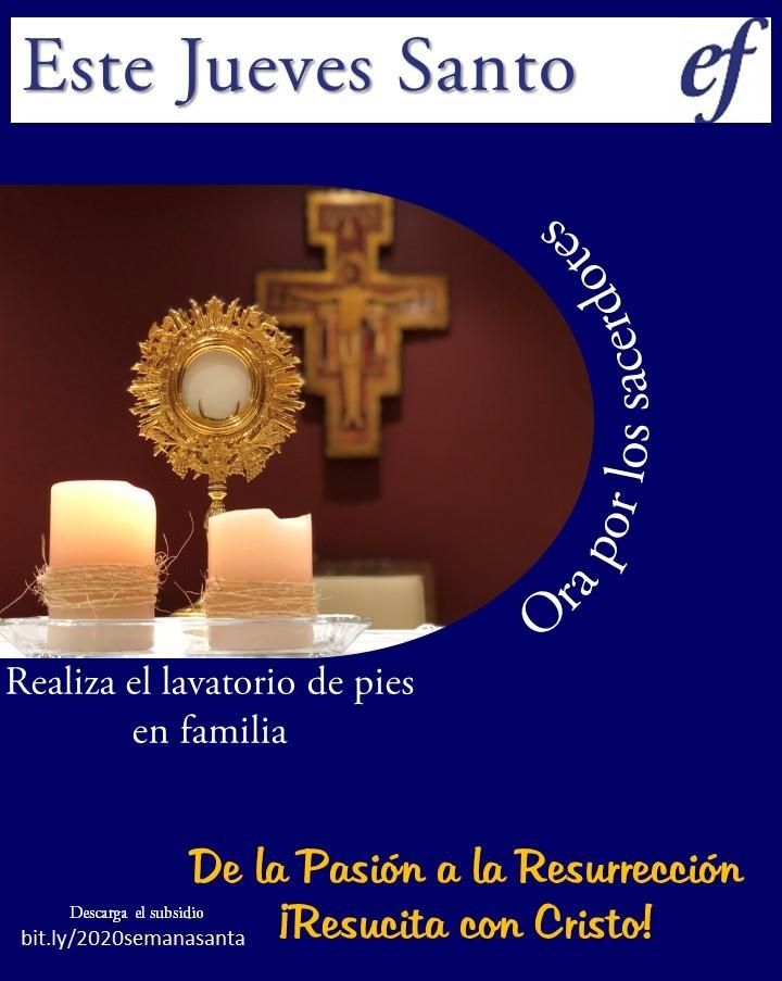 De la pasion a la resureccion, Jueves Santo